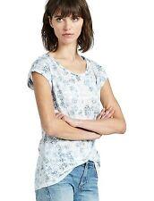 Lucky Brand - M - NWT - Blue Tie Dye on Tribal Geometric Burnout Slub Knit Tee