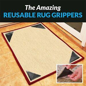 Door Mat Carpet Rug Grippers Ruggies Non Slip Skid Washable Reusable Grips UK