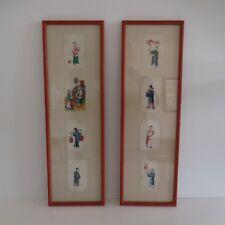 2 chinese handmade prints estampes chinoises vintage fait main art déco PN
