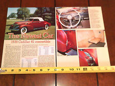 1939 CADILLAC 61 CONVERTIBLE - ORIGINAL 1991 ARTICLE