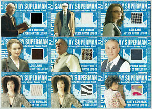 Superman Returns Topps 2006 Saved By Superman Memorabilia Costume Card Selection