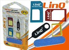 Adattatore 3 Sim Per Smartphone Micro Sim Nano Sim e Sim Standard Linq ip6
