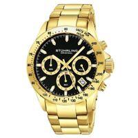 Stuhrling 3960 3 Quartz Chronograph Date Stainless Steel Bracelet Mens Watch