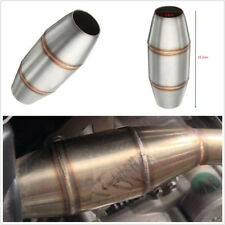 1 X High Quality Durable Motorbike Exhaust Pipe Muffler Expansion Chamber Silver