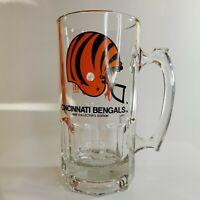 Cincinnati Bengals 1990 Collectors Edition Large Beer Mug Slim Jim Advertisement