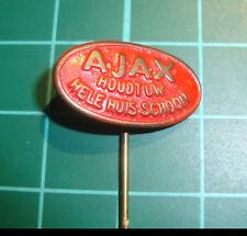 Ajax cleaning stick pin badge 60's lapel Dutch speldje Schoonmaakmiddel  2