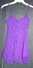 Vtg 90s purple lace babydoll nightgown