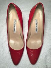 Manolo Blahnik red leather heels.  Size 39