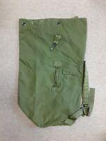 US Military USGI USMC Sea Bag Overseas Bag Top Load 2 Strap Duffle OD Green Red