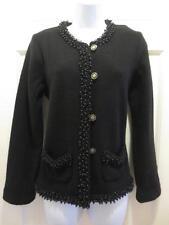 NWT $149 CHICOS Womens BLACK JAZZY JEWEL Beaded Wool Cardigan JACKET Blazer 0