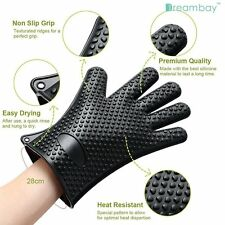 Kitchen Heat Resistant Silicone Glove Oven Pot Holder Baking Cooking BBQ Mitt