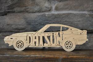 NEW Vintage Datsun 240Z Coupe Automobile Sports Car Wooden Puzzle Toy 11 Parts