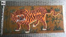 Large Tibetan Tiger Rug Wool 3'x6' Hand knotted Nepal Rectangle Orange Beige