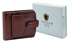 Men's Designer Topsum London Coin Pocket Genuine Leather Wallet Purse 4009 Brown