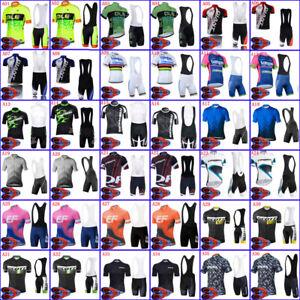 Men Cycling Jersey Bib Shorts Kit Team Short Sleeve Bike Set MTB Racing Clothing