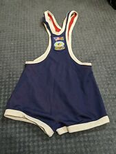 Vintage US Wrestling Federation low-cut Olympic Singlet Red/Blue Men's Size XS