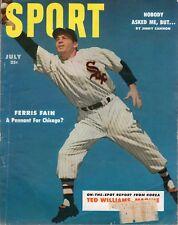 1953 (July) SPORT Magazine Baseball, Ferris Fain, Chicago White Sox w/LABEL~Fair