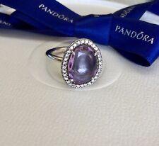 Authentic Genuine Pandora Purple Amethyst CZ Cocktail Ring Size 54 #190893AM