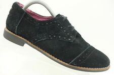 Toms Black Suede Lace Up Oxfords Casual Comfort Shoes Women's 11