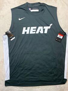 Sz L NBA Nike Miami Heat Shooting Shirt Dri-Fit AV0937-060 NEW