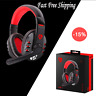 Wireless Bluetooth Gaming Headset Headphones Stereo for PC Xbox One PS4 w/ Mic @