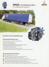 Deutz Motor 1013 E Nutzfahrzeuge Prospekt  2/98 1998 brochure truck engine LKWs