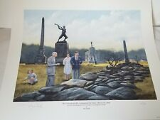PRESIDENT KENNEDY & COLONEL SHEADS AT GETTYSBURG Limited Art print by Mel Shull