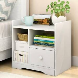 Modern Bedside Table Cabinet Chest of Drawers Nightstand Bedroom Storage Wooden