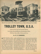 1956 Seashore Electric Trolley Traction Museum Kennebunkport Maine ME Streetcar