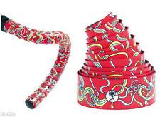 Puños y cintas rojas para manillar de bicicletas