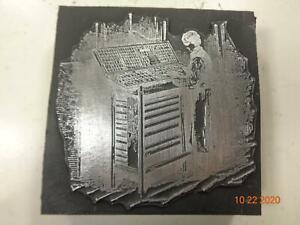 Printing Letterpress Printer Block Decorative Printer Setting Type Print Cut