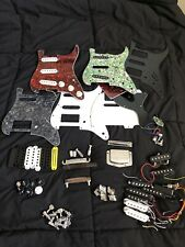 GUITAR PARTS LOT. Pickguards, Pickups, Covers, Knobs, Bridges, Tuners, ........