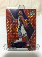 2019-20 Panini Mosaic De'Aaron Fox Reactive Orange Prizm NBA Basketball Kings