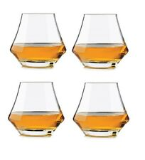 Set Of 4 Whiskey Glasses Crystal Drinking Glass Scotch Bourbon Bar Wine Alcohol