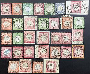 DR der Ausgabemonat der Reichspost Januar 1872 komplett - Marken und Briefe