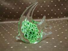 Prachtvoller Fisch schwer  Klarglas Grün Aquarium Deco skulptur Figuren Murano