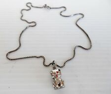CUTE STERLING SILVER LION CUB PENDANT on STERLING CHAIN Bear Necklace 45 cm