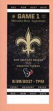 Houston Texans @ New Orleans Saints 2017 NFL ticket Topps Deshaun Watson 8-26-17
