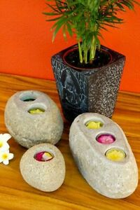 Stone Candle Holder Natural Tealight Stand For