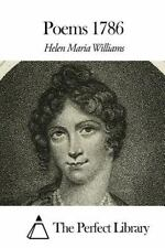 Poems 1786 by Helen Maria Williams (2015, Paperback)