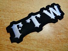 FTW Biker Patch Classic American Motorcycle Vest Hat Shirt Jacket Badge Pin