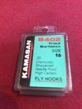 Kamasan B402 Trout Barbless Hooks - Size 16
