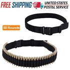 #50 Rounds Rifle Bullet Cartridge Bandolier Ammo Belt for 308 cal. 30-30 30-06#
