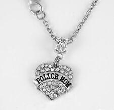 Police Mom Necklace Police Mom Gift chain Police Mom Present Police Mom Jewelry