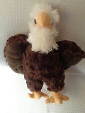 "WILD REPUBLIC bald eagle plush stuffed pre-owned 9"" K & M International 2016"