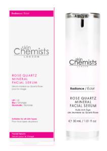 Skin Chemists Rose Quartz Mineral Facial Serum 30ml - New & Boxed