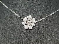 Collier - Ras de cou Fleur Diamants 0.23 carat en Or blanc 18 carats 3 grammes