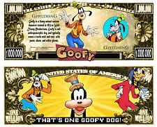 DINGO BILLET MILLION DOLLAR US! Collection dessin animé GOOFY Walt Disney Mickey