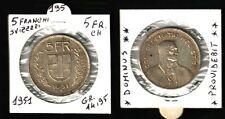 SVIZZERA, Confederazione: 5 FRANCHI 1951 in argento GR.14,95  BB+   N.195