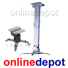 Projector Ceiling Mount Bracket Drop from 435mm to 650mm Tilt White color